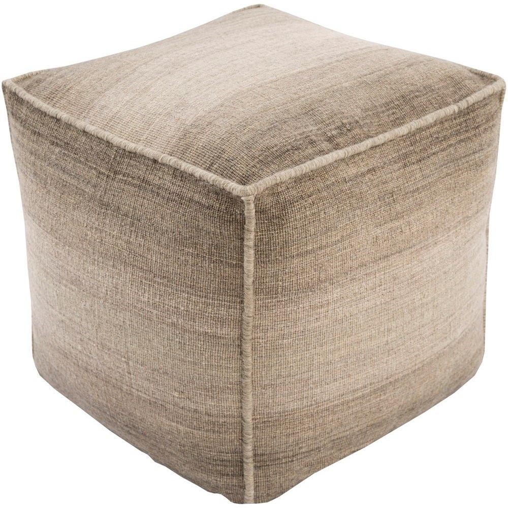Chaz 18 x 18 x 18 Cube Pouf by Surya at Upper Room Home Furnishings