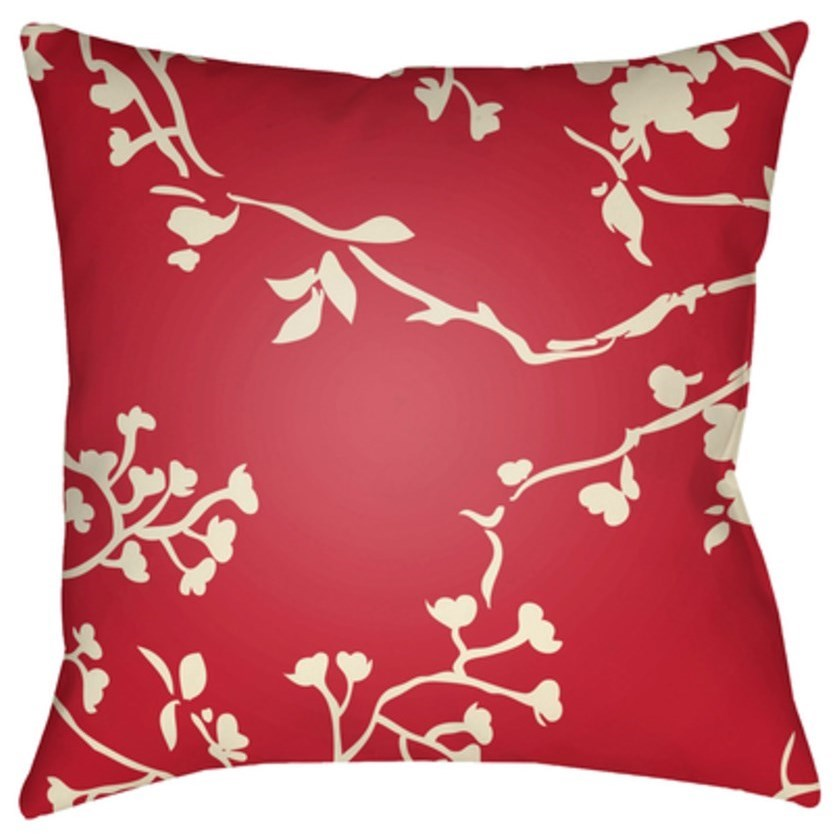 Chinoiserie Floral Pillow by Surya at Fashion Furniture