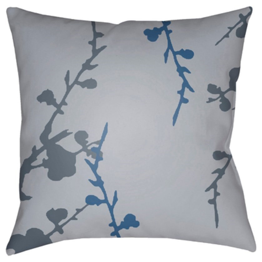 Chinoiserie Floral Pillow by Surya at Upper Room Home Furnishings