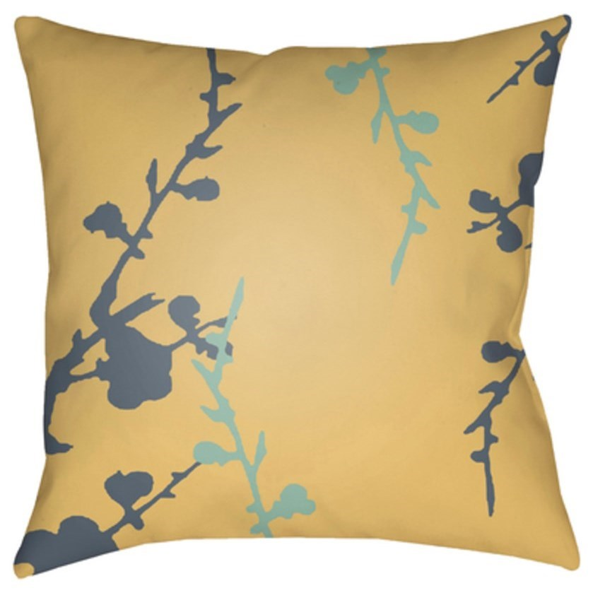 Chinoiserie Floral Pillow by Surya at Reid's Furniture