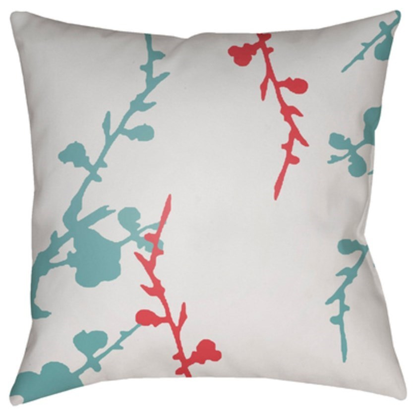 Chinoiserie Floral Pillow by Surya at Goffena Furniture & Mattress Center