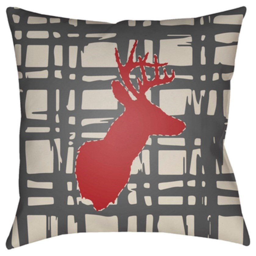 Deer Pillow by Surya at Goffena Furniture & Mattress Center