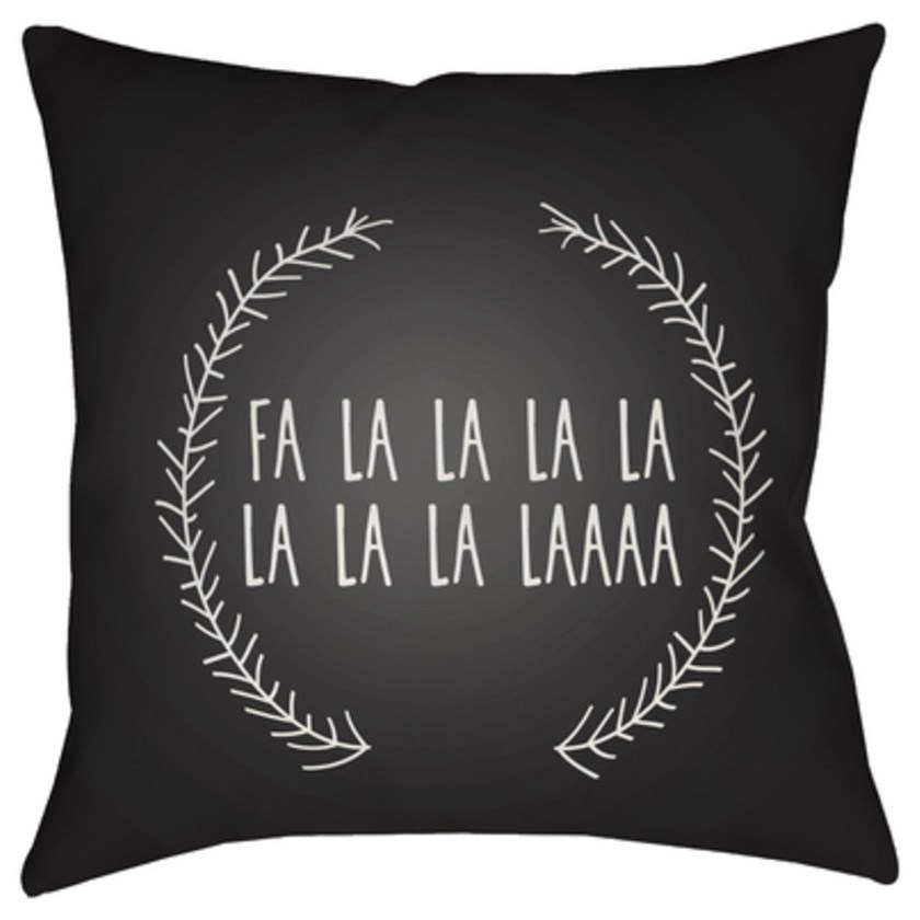 Falalalala Pillow by Ruby-Gordon Accents at Ruby Gordon Home