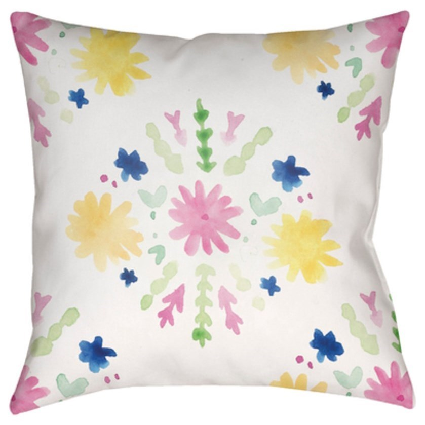 Flores Burst Pillow by Ruby-Gordon Accents at Ruby Gordon Home