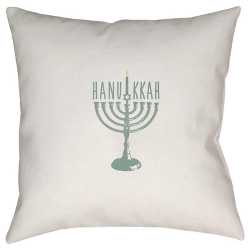 Hanukkah Menorah Pillow by Ruby-Gordon Accents at Ruby Gordon Home