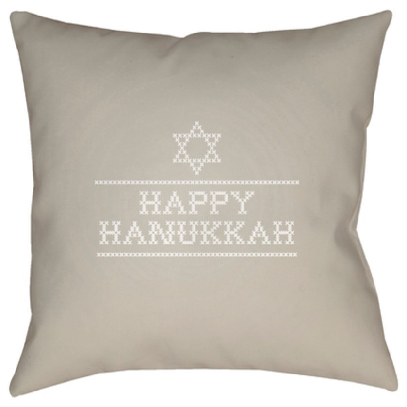 Happy Hannukah II Pillow by Ruby-Gordon Accents at Ruby Gordon Home