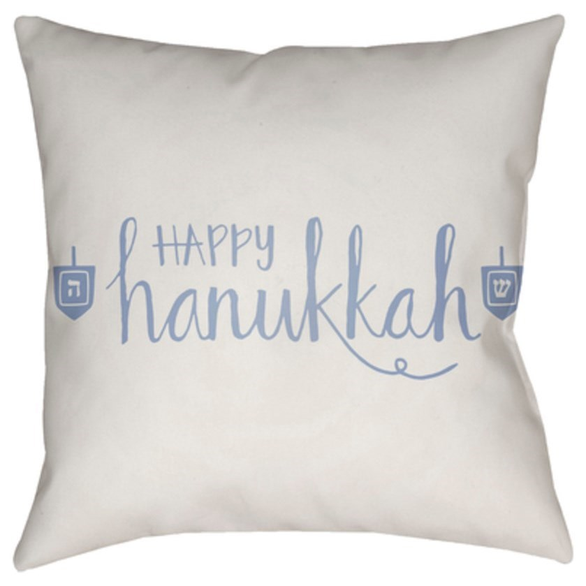 Happy Hannukah Pillow by Ruby-Gordon Accents at Ruby Gordon Home