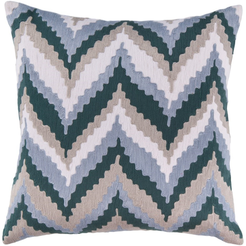 Ikat Chevron Pillow by Surya at Reid's Furniture
