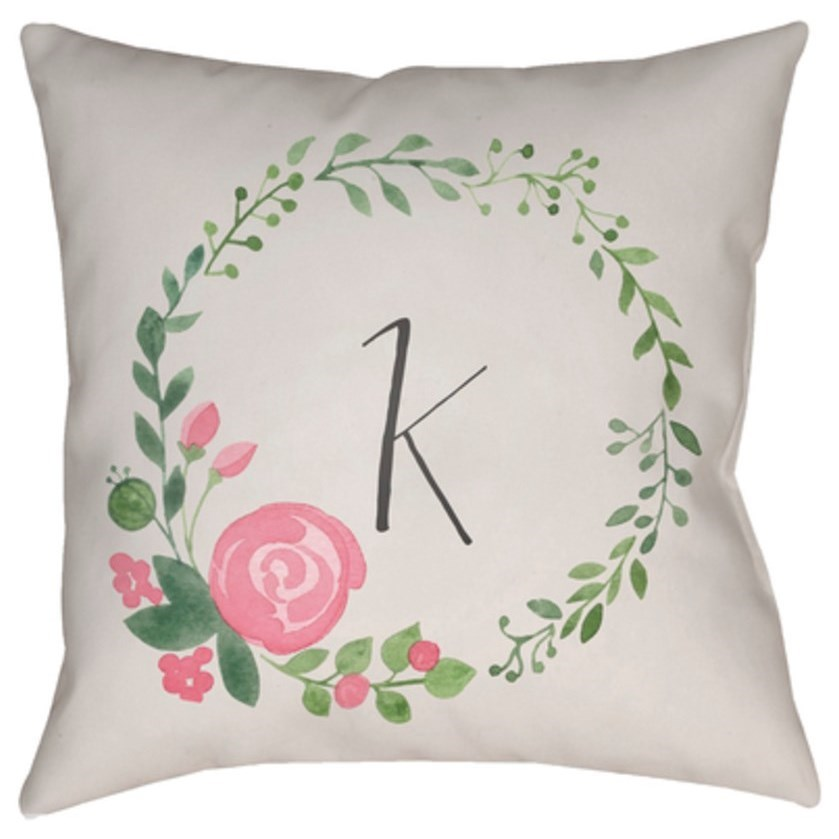 Initials II Pillow by Surya at Fashion Furniture