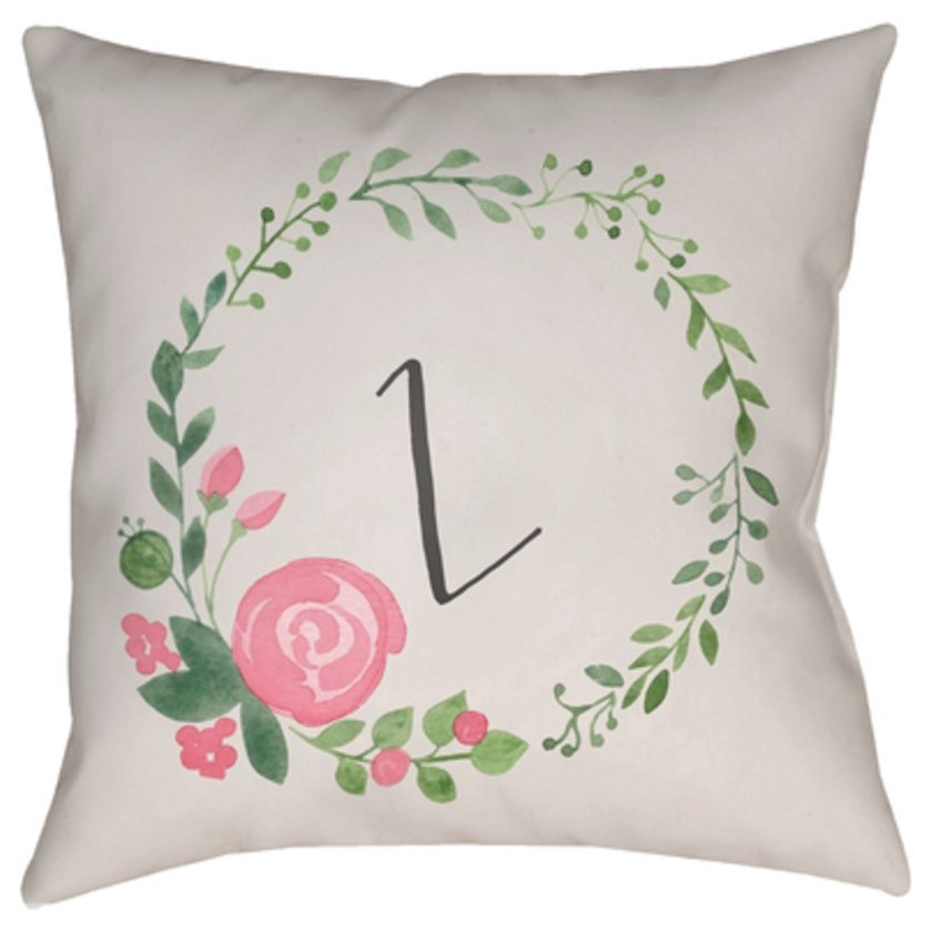 Initials II Pillow by Surya at SuperStore