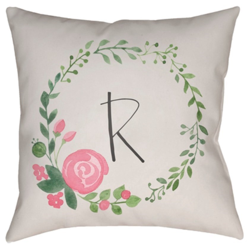 Initials II Pillow by Ruby-Gordon Accents at Ruby Gordon Home