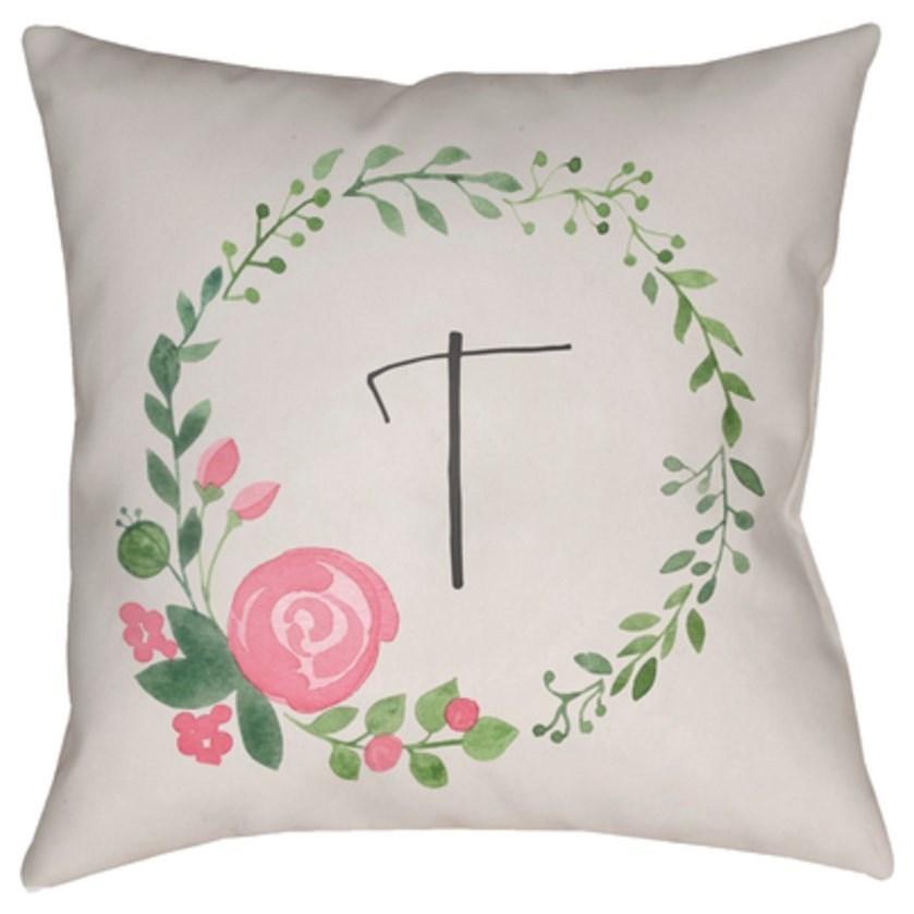 Initials II Pillow by Surya at Belfort Furniture