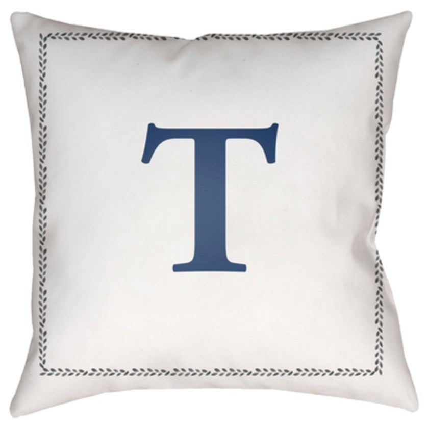 Initials Pillow by Surya at Upper Room Home Furnishings