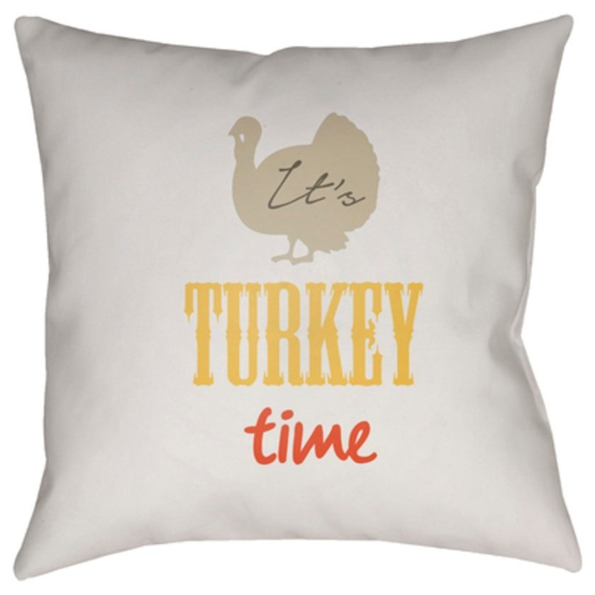 Its Turkey Time Pillow by Ruby-Gordon Accents at Ruby Gordon Home