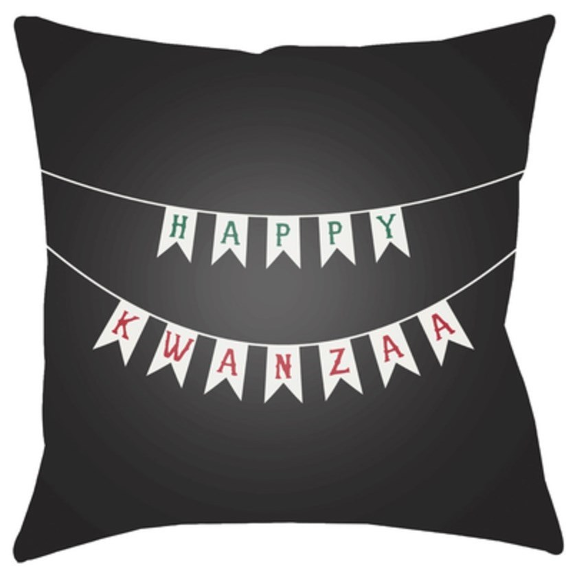 Kwanzaa I Pillow by Surya at Upper Room Home Furnishings