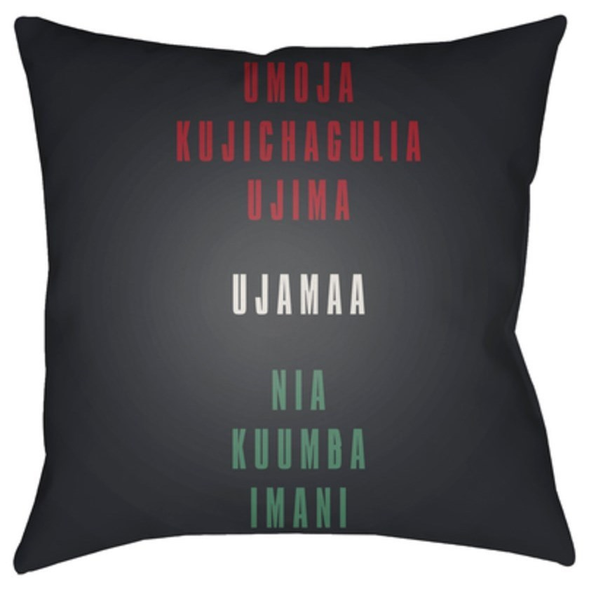 Kwanzaa III Pillow by Ruby-Gordon Accents at Ruby Gordon Home