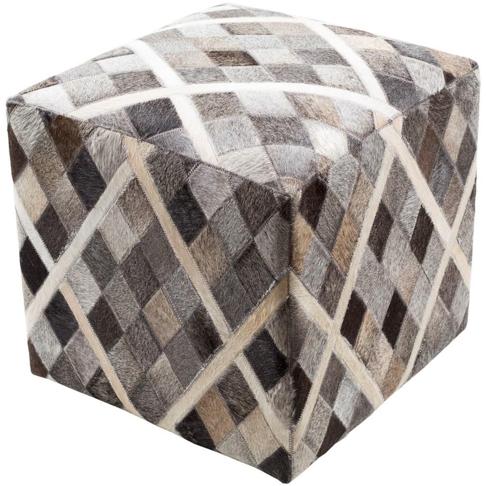 Lycaon 18 x 18 x 18 Cube Pouf by Ruby-Gordon Accents at Ruby Gordon Home