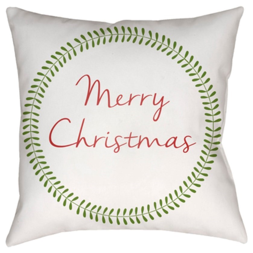 Merry Christmas II Pillow by Ruby-Gordon Accents at Ruby Gordon Home