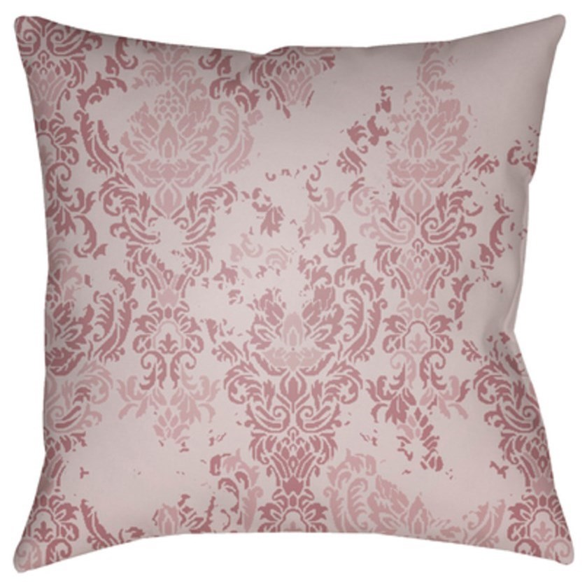 Moody Damask Pillow by Surya at Upper Room Home Furnishings