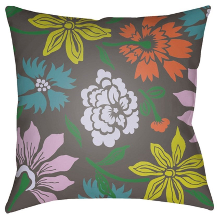 Moody Floral Pillow by Surya at Upper Room Home Furnishings
