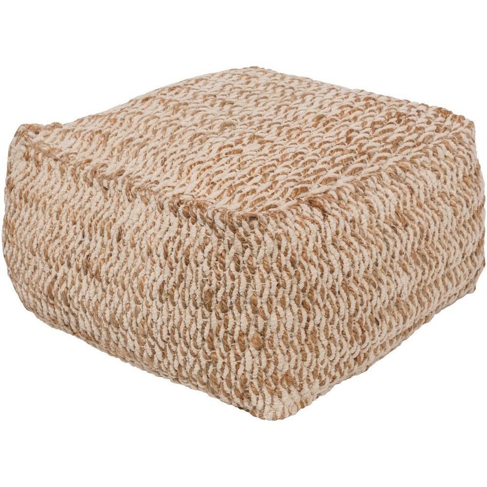 Oak Cove 20 x 20 x 12 Cube Pouf by Ruby-Gordon Accents at Ruby Gordon Home