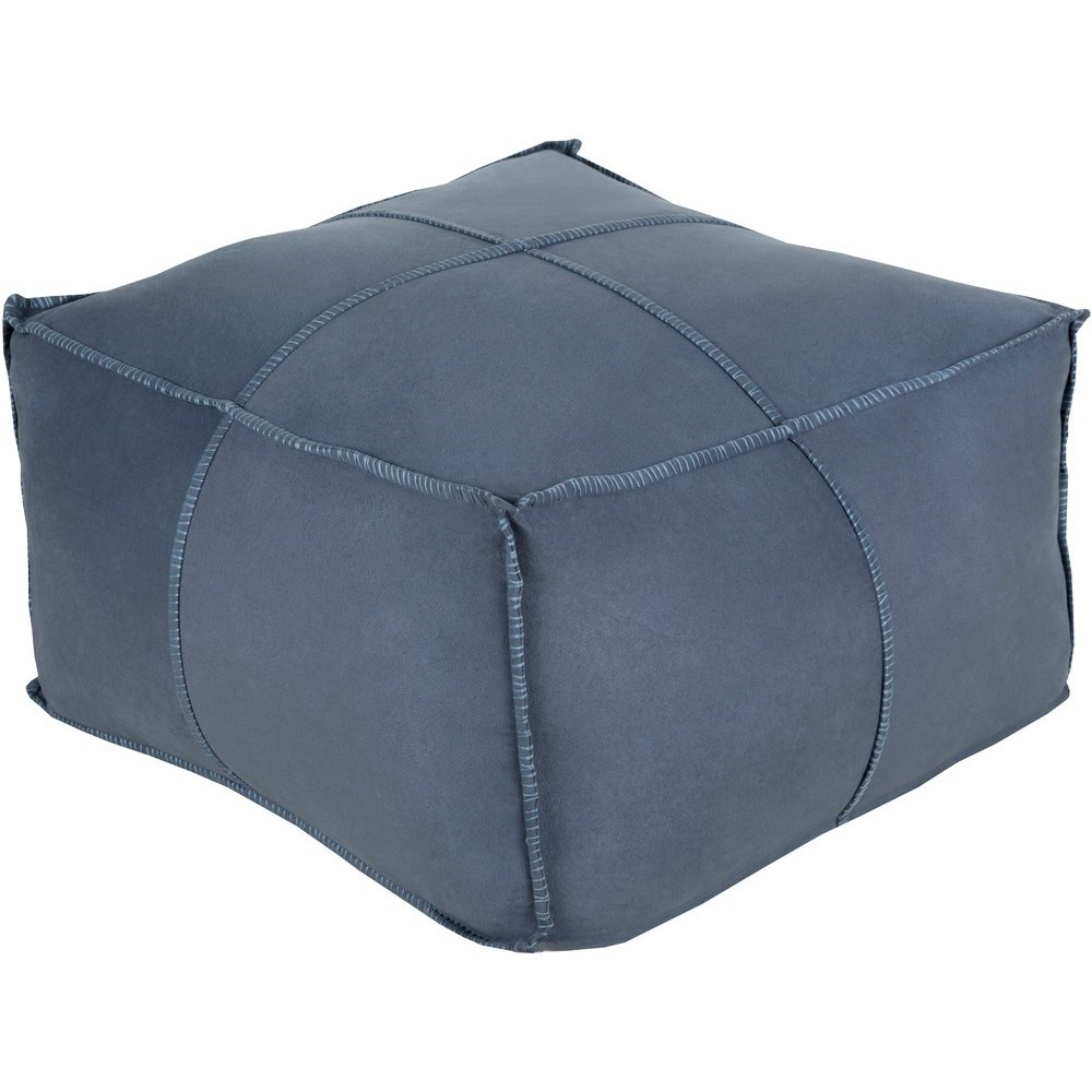 Obsidian 24 x 24 x 13 Cube Pouf by Ruby-Gordon Accents at Ruby Gordon Home