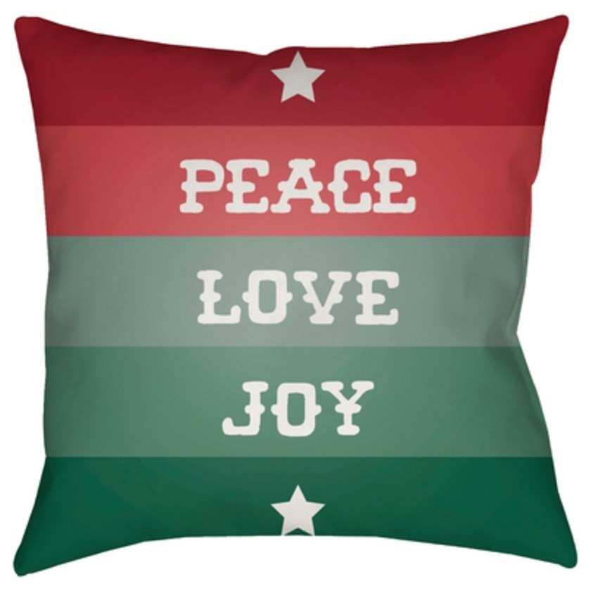 Peace Love Joy Pillow by Ruby-Gordon Accents at Ruby Gordon Home