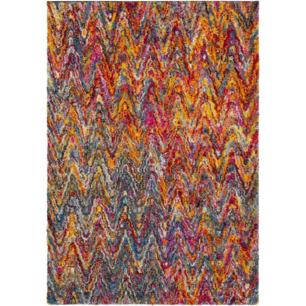"""Rainbow Shag 6' 7"""" x 9' 6"""" Rug by Ruby-Gordon Accents at Ruby Gordon Home"""