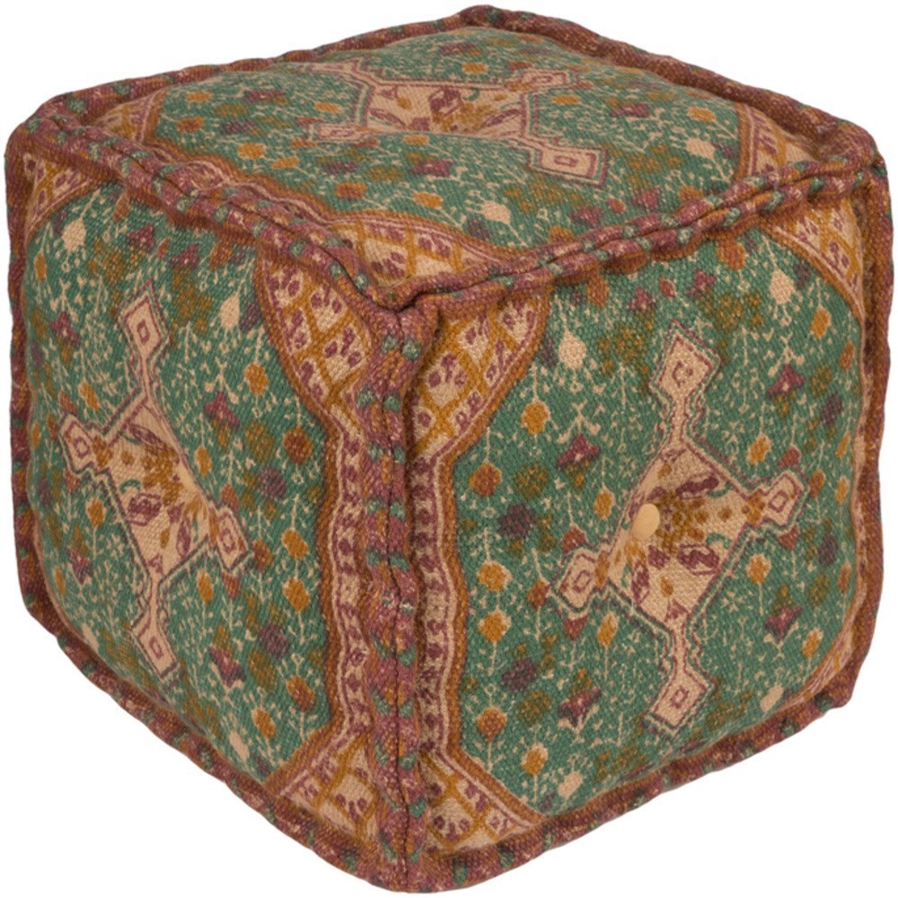 Shadi Cube Pouf by Surya at SuperStore