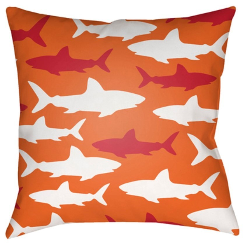 Sharks Pillow by Ruby-Gordon Accents at Ruby Gordon Home