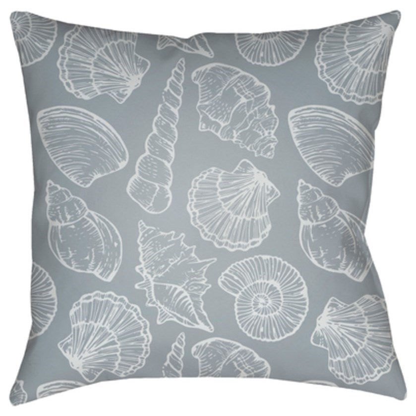 Shells III Pillow by Ruby-Gordon Accents at Ruby Gordon Home