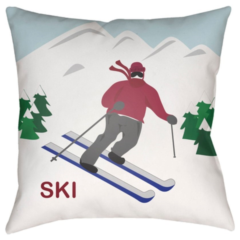 Ski I Pillow by Surya at Upper Room Home Furnishings