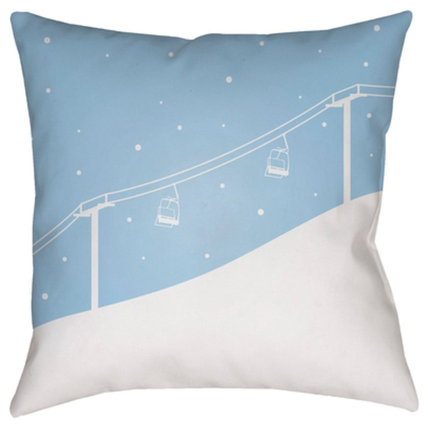 Ski Lift Pillow by Surya at SuperStore