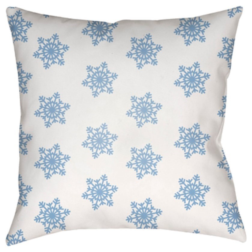 Snowflakes Pillow by Ruby-Gordon Accents at Ruby Gordon Home