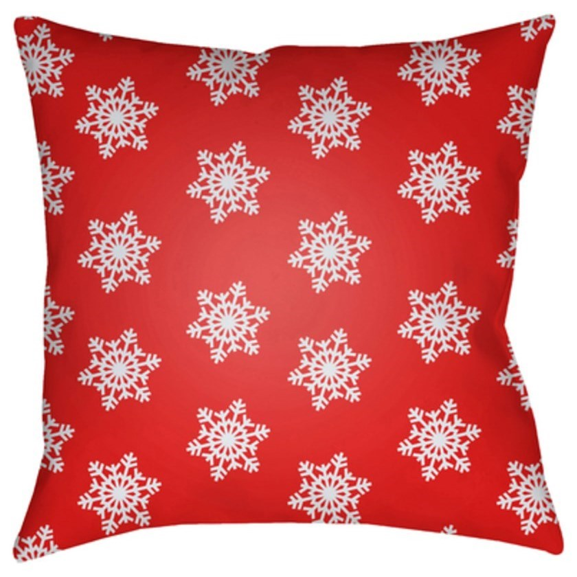 Snowflakes Pillow by Surya at Fashion Furniture