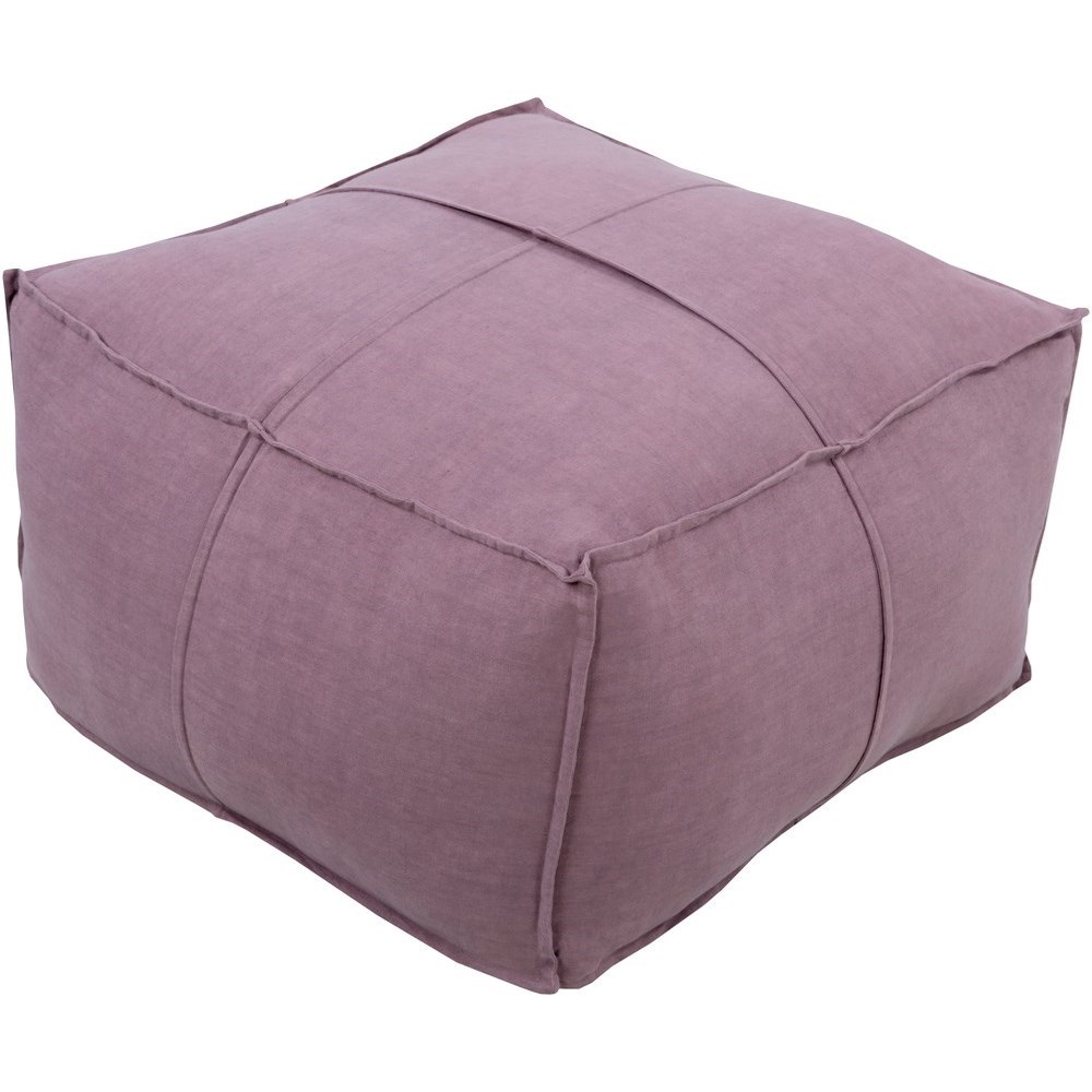 Solid Linen 24 x 24 x 13 Cube Pouf by Ruby-Gordon Accents at Ruby Gordon Home