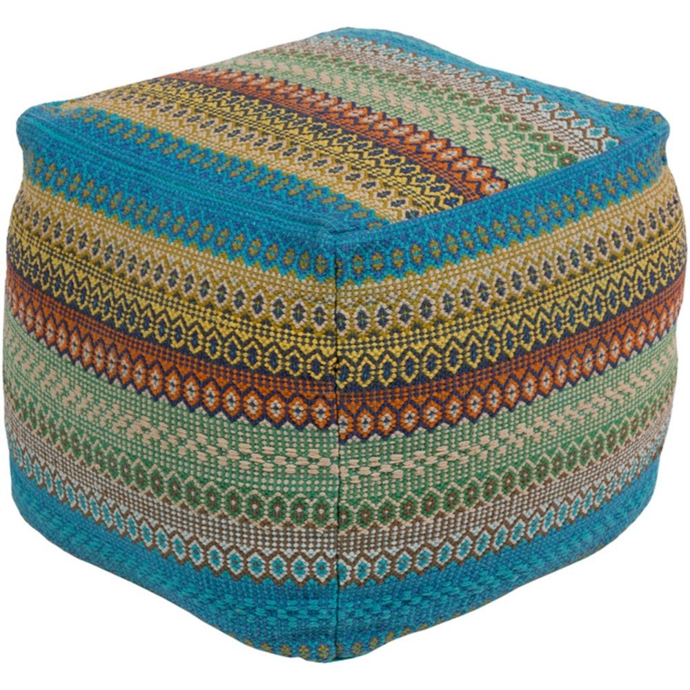 Talara Cube Pouf by Surya at Prime Brothers Furniture