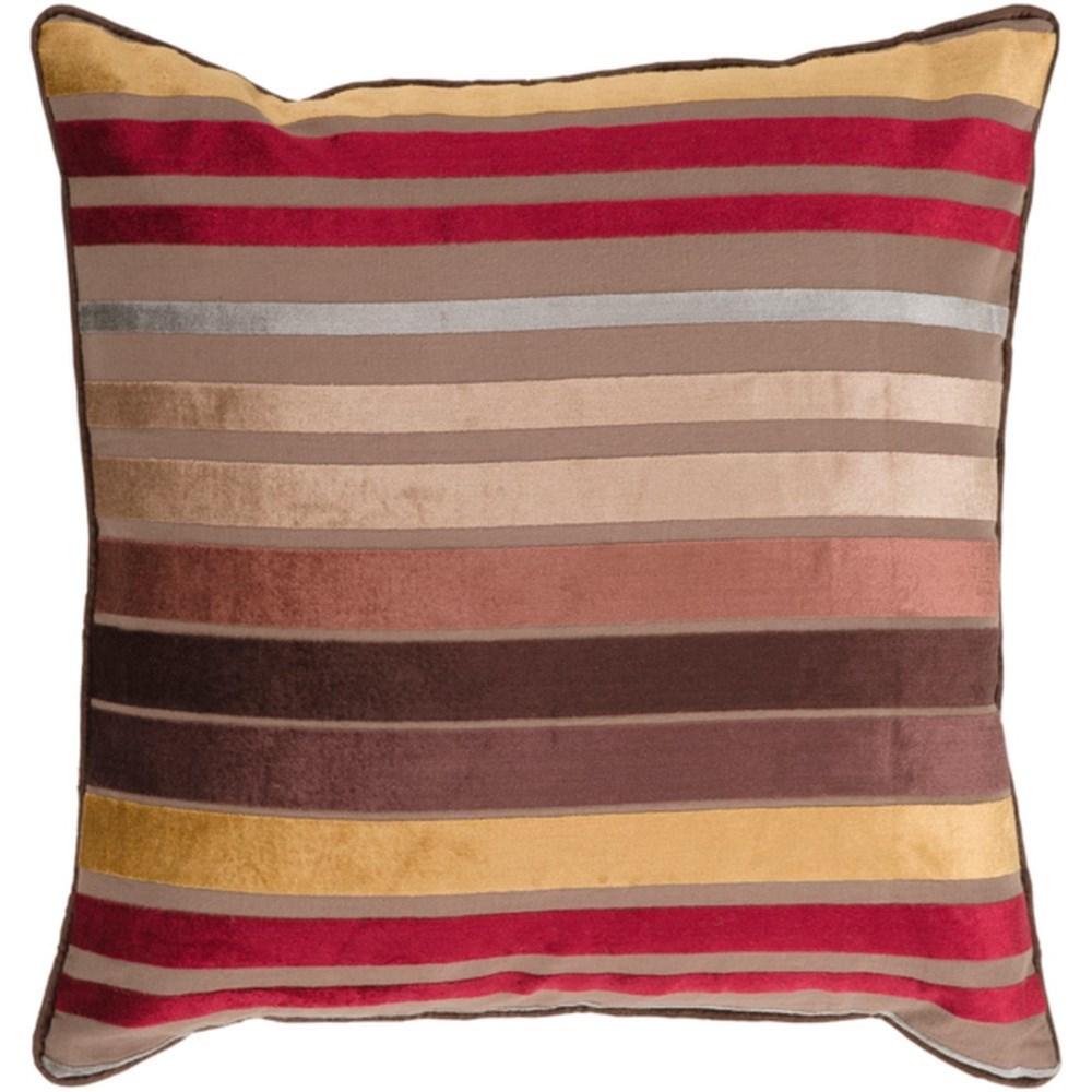 Velvet Stripe Pillow by Ruby-Gordon Accents at Ruby Gordon Home