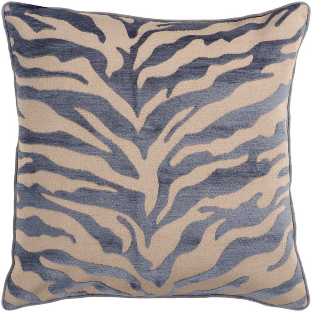 Velvet Zebra Pillow by Surya at Jacksonville Furniture Mart