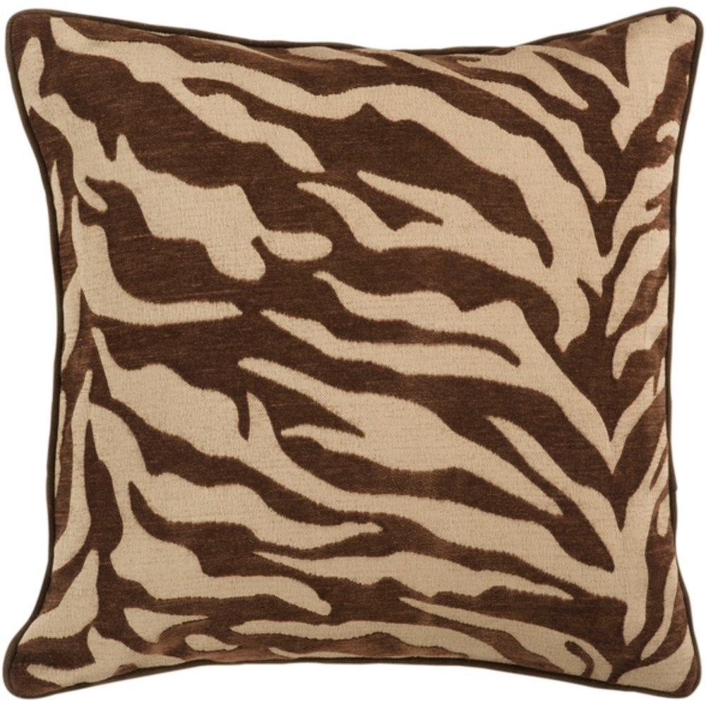 Velvet Zebra Pillow by Surya at Story & Lee Furniture