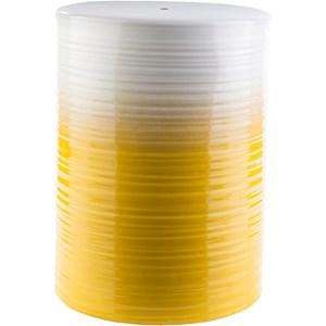 Bright Yellow Ceramic Garden Stool