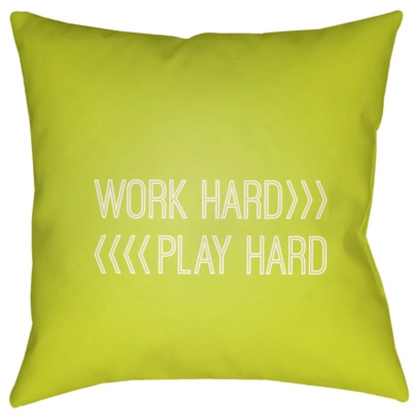 Work Play Pillow by Ruby-Gordon Accents at Ruby Gordon Home