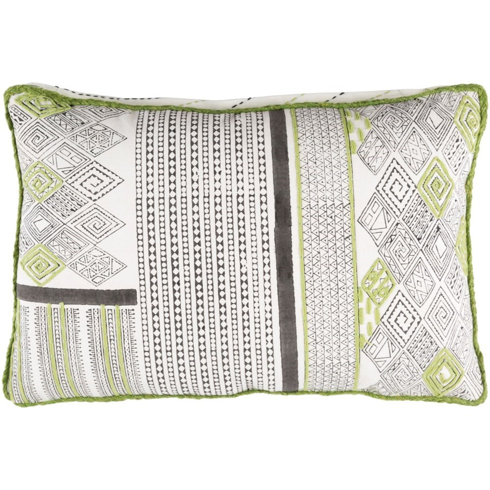 Aba 18 x 18 x 4 Polyester Throw Pillow by Surya at Esprit Decor Home Furnishings