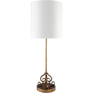 Painted Gold Tint Traditional Table Lamp