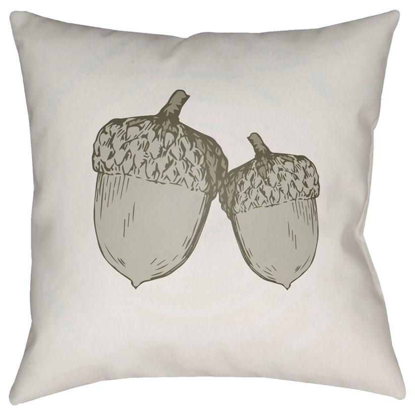 Acorn 18 x 18 x 4 Polyester Throw Pillow by Surya at Suburban Furniture