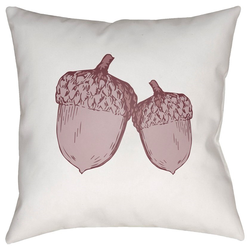 Acorn 18 x 18 x 4 Polyester Throw Pillow by Ruby-Gordon Accents at Ruby Gordon Home