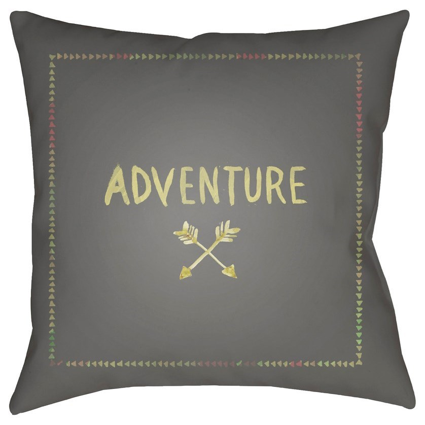 Adventure II 18 x 18 x 4 Polyester Throw Pillow by Surya at Fashion Furniture
