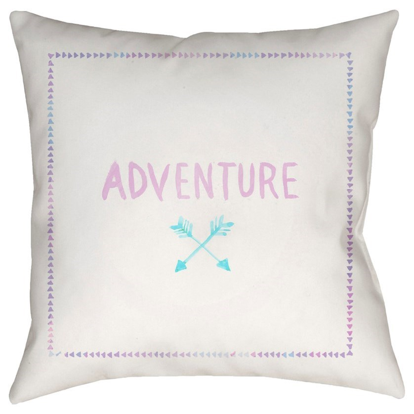 Adventure II 18 x 18 x 4 Polyester Throw Pillow by Surya at SuperStore