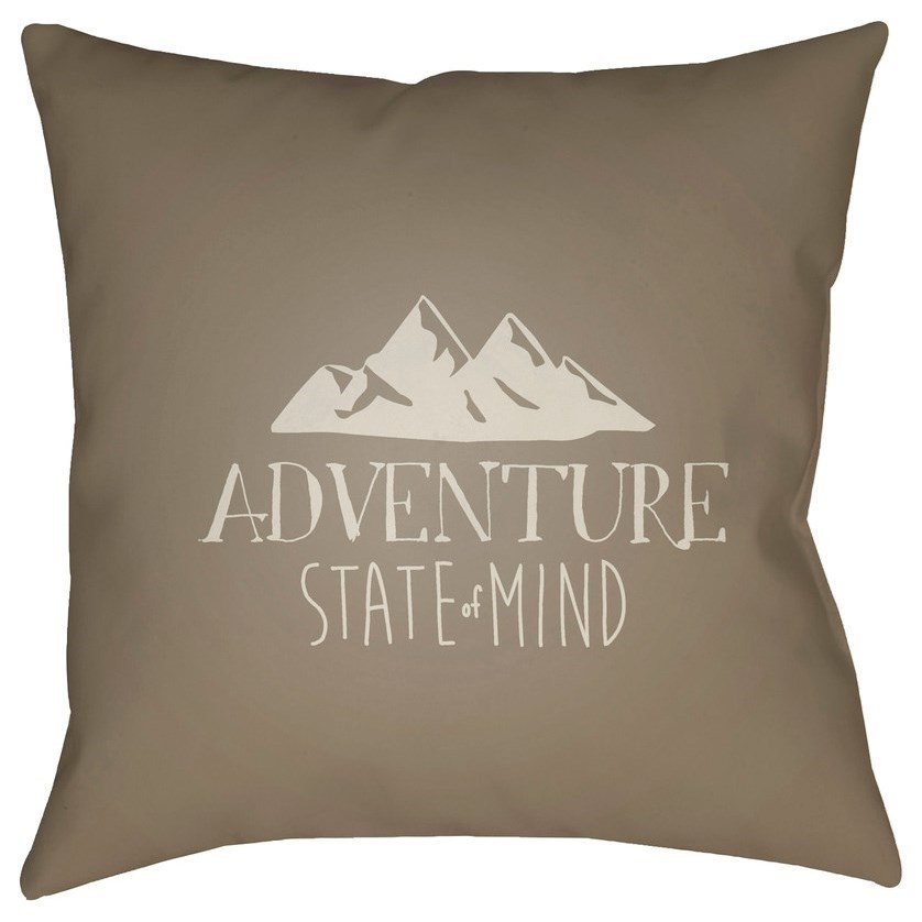 Adventure III 20 x 20 x 4 Polyester Throw Pillow by Surya at Fashion Furniture