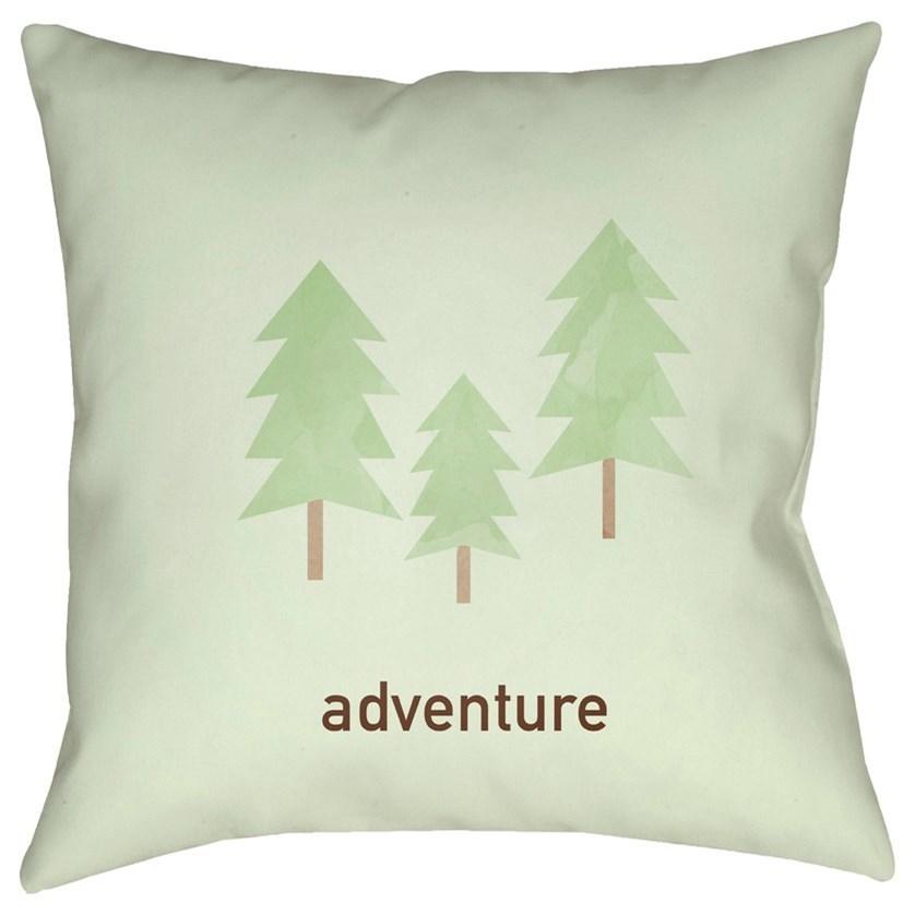 Adventure 20 x 20 x 4 Polyester Throw Pillow by Surya at Lynn's Furniture & Mattress